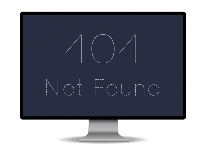 Computer monitor with 404 error